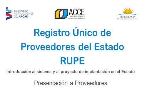 tramite RUPE Uruguay